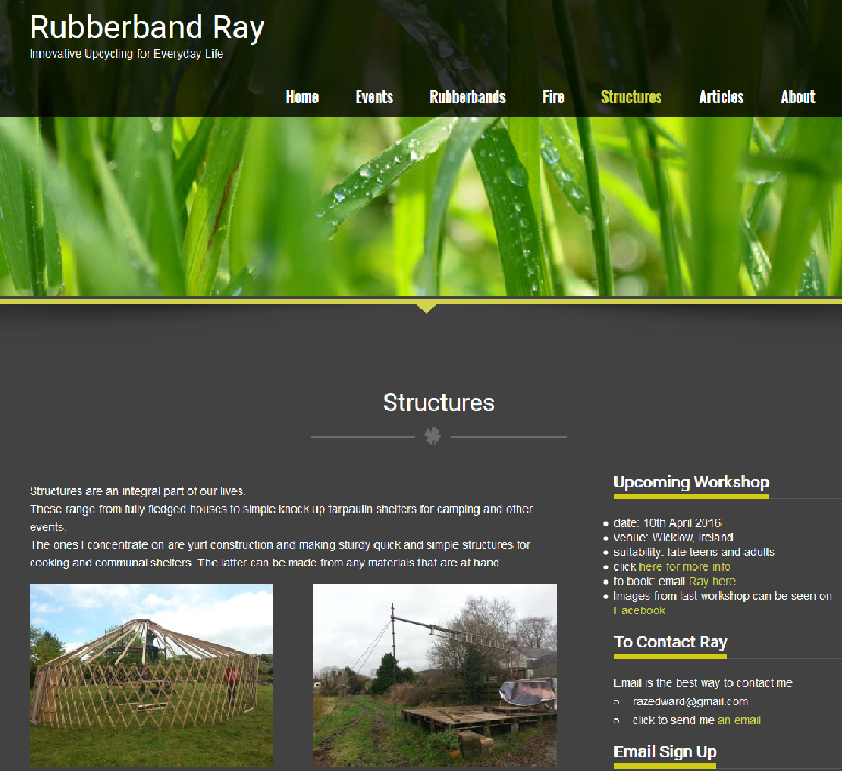 image of webpage from Rubberbandray.com